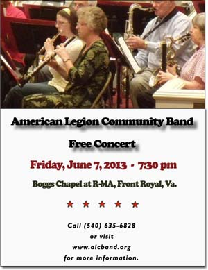 American Legion Community Band Concert on June 7, 2013